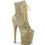 Oro glitter 20 cm FLAMINGO-1020GWR stivaletti exotic pole dance