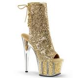 Oro scintillare 18 cm ADORE-1018G stivaletti plateau suola donna