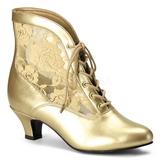 Oro tessuto del merletto 5 cm DAME-05 Stivaletti Stringati Donna
