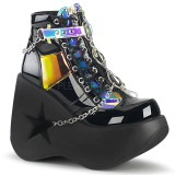 Patent 12,5 cm DYNAMITE-101 demonia ankle boots wedges platform
