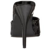 Patent 13 cm Pleaser SEDUCE-101 Women Mules Shoes