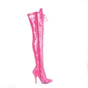 Patent 13 cm SEDUCE-3024 Pink high heeled mens thigh high boots