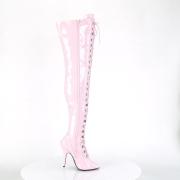 Patent 13 cm SEDUCE-3024 Rosa high heeled mens thigh high boots