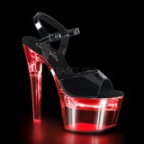 Patent 18 cm FLASHDANCE-709 LED light platform stripper high heel shoes