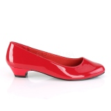 Patent 3 cm GWEN-01 pumps for mens and drag queens in red