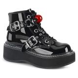 Patent 5 cm EMILY-318 demonia ankle boots platform
