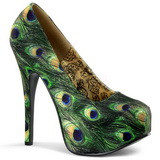 Peacock Pattern 14,5 cm TEEZE-06-5 Platform Pumps Shoes