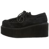 Pelliccia 7,5 cm CREEPER-202 scarpe creepers donna suola spessa