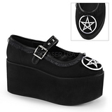 Pentagram canvas 8 cm CLICK-02-2 lolita shoes gothic platform shoes