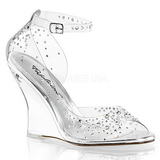 Pietre strass 10,5 cm LOVELY-430RS Sandali con Zeppa Altissimo