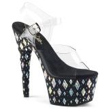 Pietre strass 18 cm Pleaser ADORE-708DIA scarpe con tacchi da pole dance