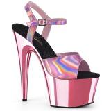 Pink 18 cm ADORE-709HGCH Ologramma plateau sandali donna con tacco