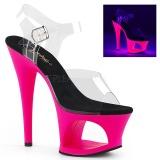 Pink 18 cm MOON-708UV Sandali Donna Plateau Neon