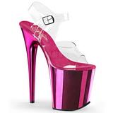 Pink 20 cm FLAMINGO-808 Cromo Plateau Tacchi Alti