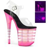 Pink 20 cm FLAMINGO-808UVLN Sandali Donna Plateau Neon