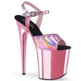 Pink 20 cm FLAMINGO-809HG tacco alto pleaser con plateau