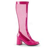 Pink 8,5 cm GOGO-307 stivali da rete donna con tacco altissime