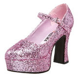 Pink Glitter 11 cm MARYJANE-50G Platform Pumps Mary Jane