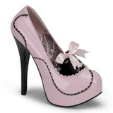 Pink Shiny 14,5 cm Burlesque BORDELLO TEEZE-01 Platform Pumps
