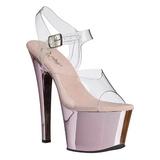 Pink Trasparente 18 cm SKY-308 Plateau Tacchi Alti a Spillo