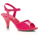 Pink Varnish 8 cm BELLE-309 High Heels for Men