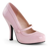 Pink Varnished 12 cm CUTIEPIE-02 Women Pumps Shoes Flat Heels