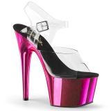 Pink chrome platform 18 cm Pleaser ADORE-708 poledance shoes
