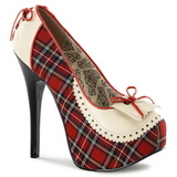 Plaid Pattern 14,5 cm TEEZE-26 Womens Shoes with High Heels