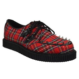 Plaid Pattern 2,5 cm CREEPER-603 Mens Creepers Shoes
