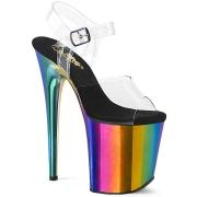 Plateau arcobaleno 20 cm FLAMINGO-808RC scarpe da pole dance