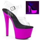 Porpora 18 cm SKY-308UV Neon plateau sandali donna con tacco