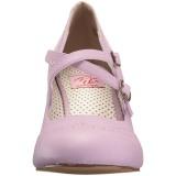 Porpora 7,5 cm retro vintage FLAPPER-35 Pinup scarpe décolleté con tacchi bassi