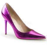 Porpora Metallico 10 cm CLASSIQUE-20 grandi taglie scarpe stilettos