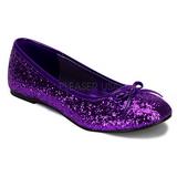 Porpora STAR-16G scintillare scarpe ballerine donna basse