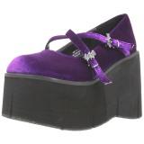 Porpora Velluto 11,5 cm KERA-10 lolita scarpe plateau