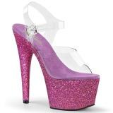 Porpora scintillare 18 cm Pleaser ADORE-708HMG scarpe con tacchi da pole dance