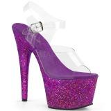 Porpora scintillare 18 cm Pleaser ADORE-708LG scarpe con tacchi da pole dance