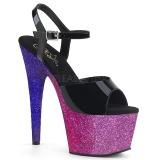 Porpora scintillare 18 cm Pleaser ADORE-709OMB scarpe con tacchi da pole dance
