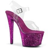 Porpora scintillare 18 cm Pleaser SKY-308LG scarpe con tacchi da pole dance