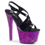 Porpora scintillare 18 cm Pleaser SKY-330LG scarpe con tacchi da pole dance