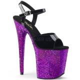 Porpora scintillare 20 cm Pleaser FLAMINGO-809LG scarpe con tacchi da pole dance