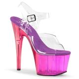 Purple 18 cm ADORE-708MCT Acrylic platform high heels shoes