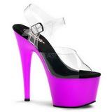 Purple Neon 18 cm ADORE-708UV High Heels Platform