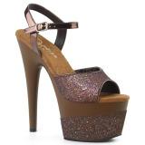 Rame 18 cm ADORE-709-2G scintillare plateau sandali donna con tacco