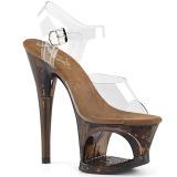 Rame 18 cm MOON-708GFT scintillare plateau sandali donna con tacco