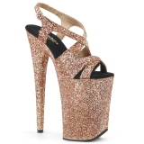 Rame 23 cm INFINITY-930LG scintillare plateau sandali donna con tacco