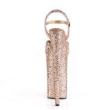 Rame 25,5 cm BEYOND-010LG scintillare plateau sandali donna con tacco