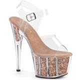 Rame scintillare 18 cm Pleaser ADORE-708G scarpe da cubista e spogliarellista