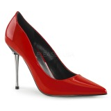 Red 10 cm APPEAL-20 pointed toe stiletto pumps with metal heels