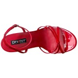 Red 15 cm DOMINA-108 transvestite shoes